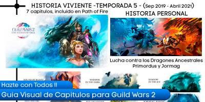 Disfruta de la guía visual de capítulos de Guild Wars 2